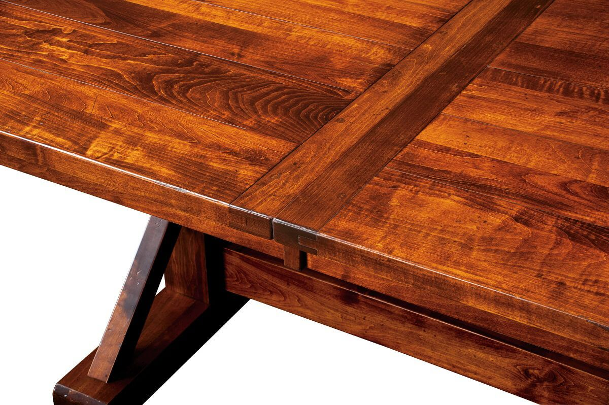 Outpost Trestle Table Plank Top Detail
