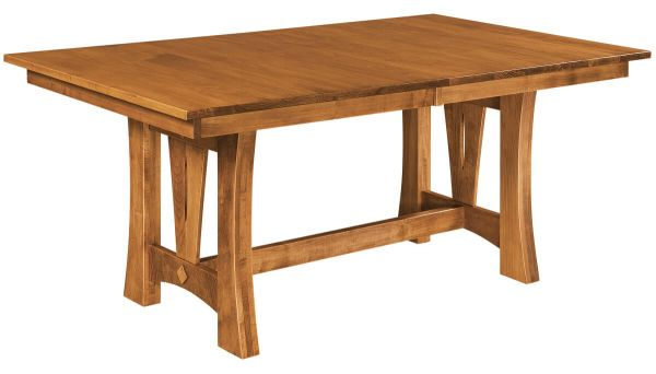 Clover Butterfly Leaf Trestle Table
