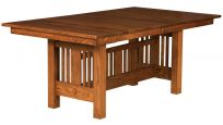 Crespi Mission Butterfly Leaf Dining Table