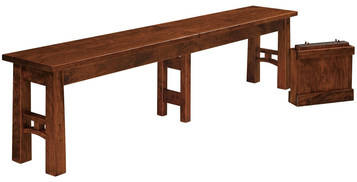Falling Water Extendable Dining Bench with Leaves