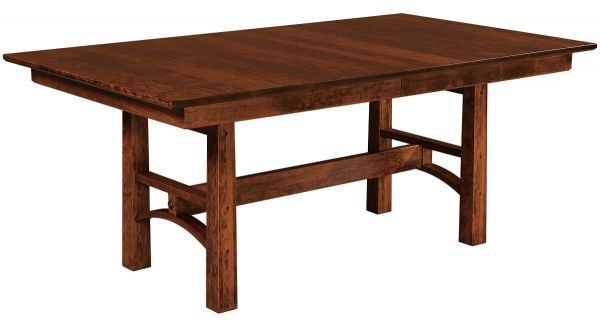 Falling Water Trestle Table in Brown Maple