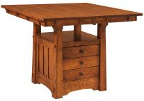 Fontana Storage Butterfly Leaf Table