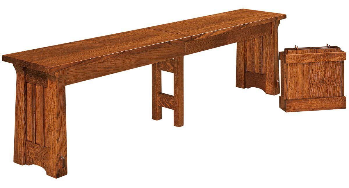 Fontana Dining Bench Seat in Quartersawn White Oak