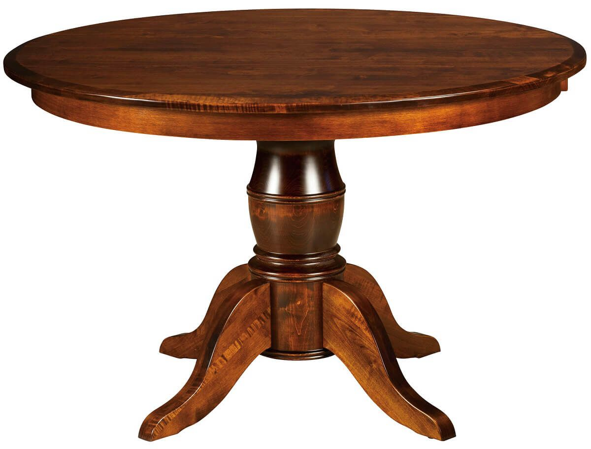 Montalban Single Pedestal Table in Brown Maple