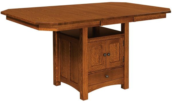 Mt. Marcy Bar Table with Standard Leaf Extended