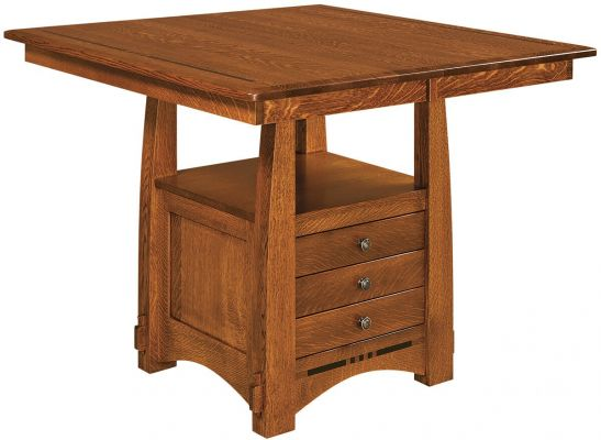Sitka Craftsman Butterfly Leaf Cabinet Pub Table