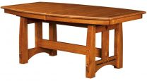 Quartersawn White Oak Trestle Table