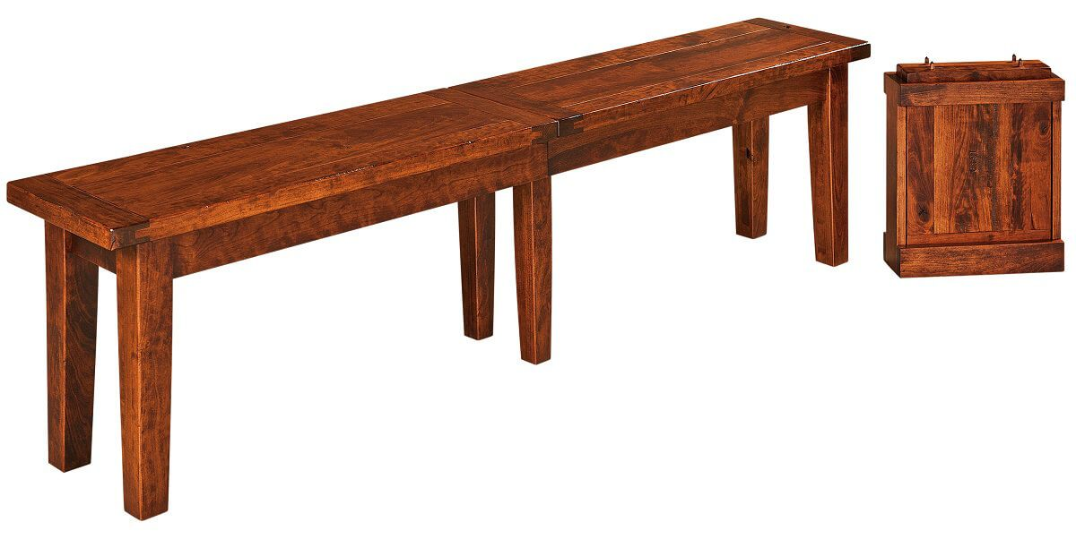 Sunset Ridge Dining Bench with Expansion Leaves