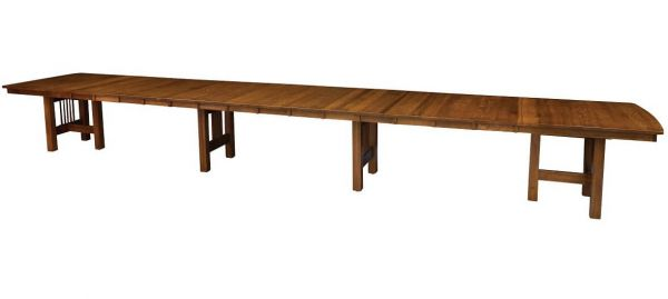 Fully Extended Tall Timbers Trestle Table