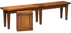 Tero Plank Top Bench in Cherry