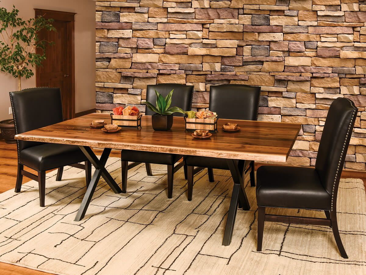 Tortola Live Edge Dining Set