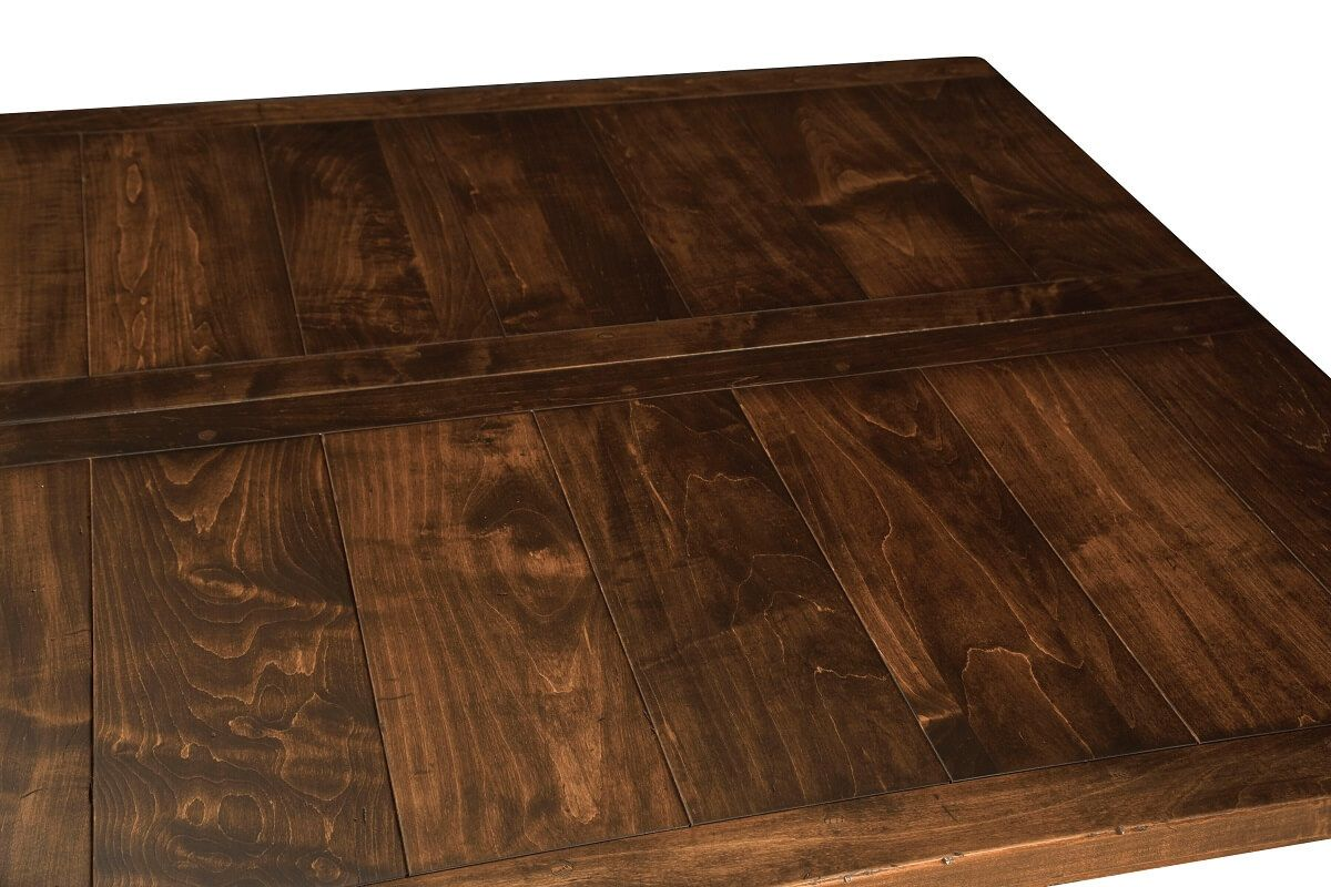 Planked Top Square Table