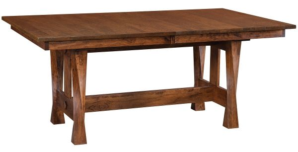 Ricci Butterfly Leaf Trestle Table
