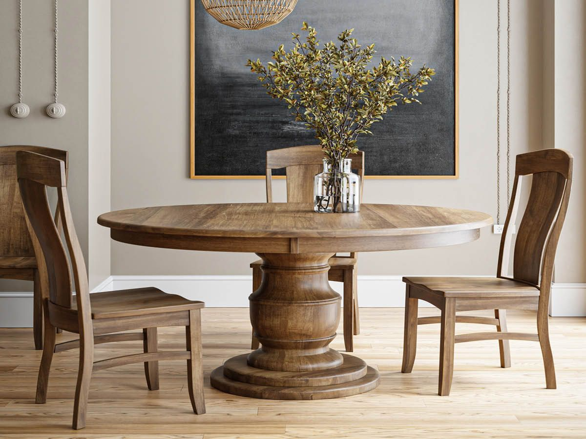 Shown with our Benelux Pedestal Table
