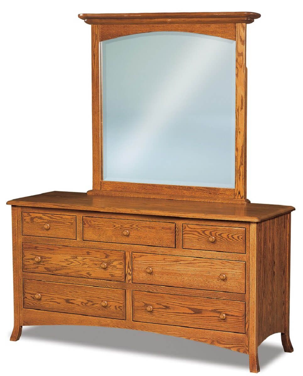 Bradley Low Mirrored Dresser