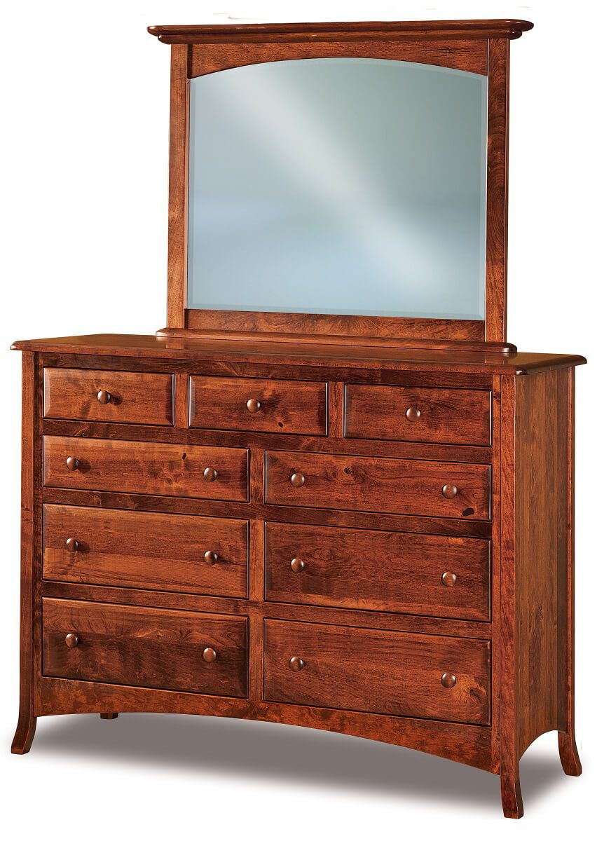 Bradley Tall Mirrored Dresser