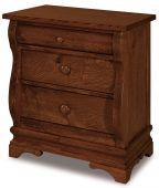 Milwaukee Sleigh 3-Drawer Nightstand