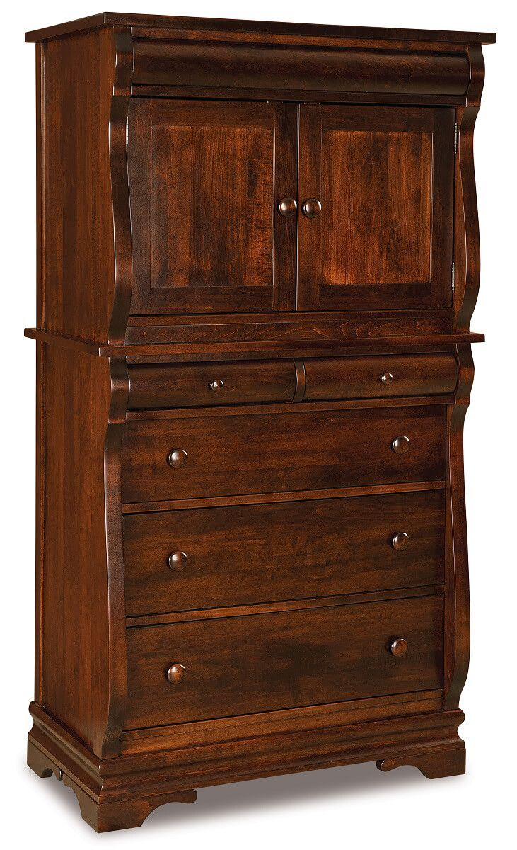 Milwaukee Sleigh Chest Armoire