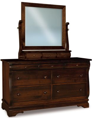 Milwaukee Sleigh Dresser With Mirror Countryside Amish Furniture