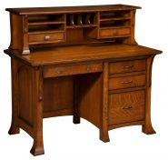 Lakewood Desk with Hutch Topper