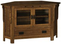 Lakeland 1-Drawer Corner TV Cabinet