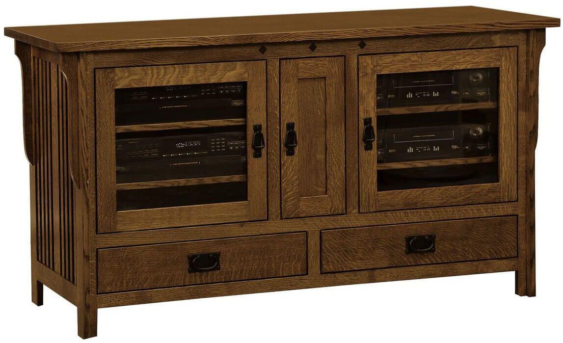 Mission 3 Door TV Cabinet