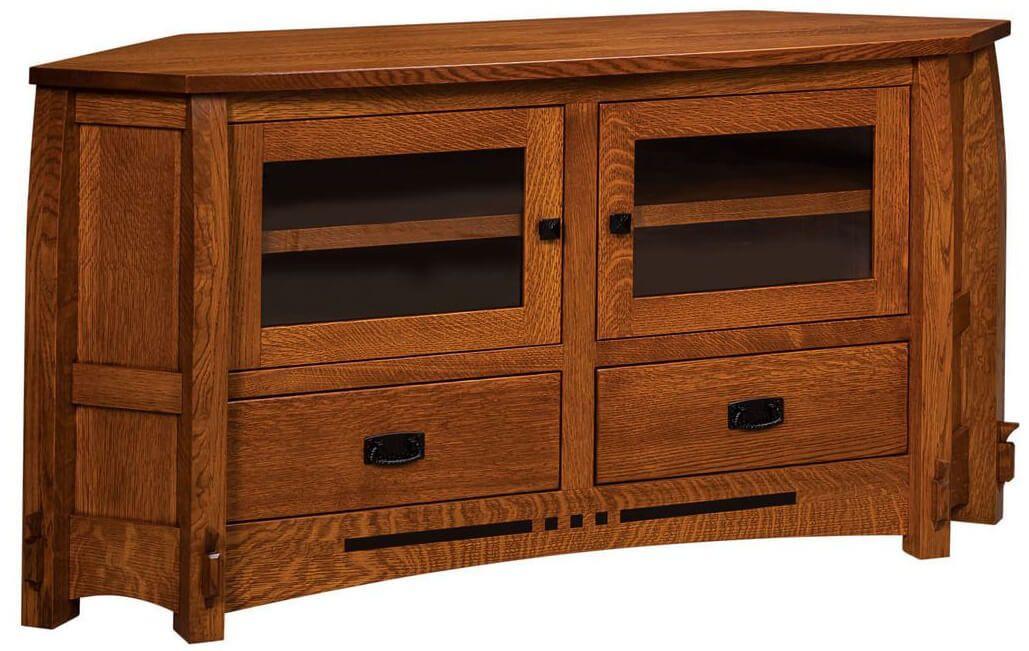 2 Drawer Corner TV Stand