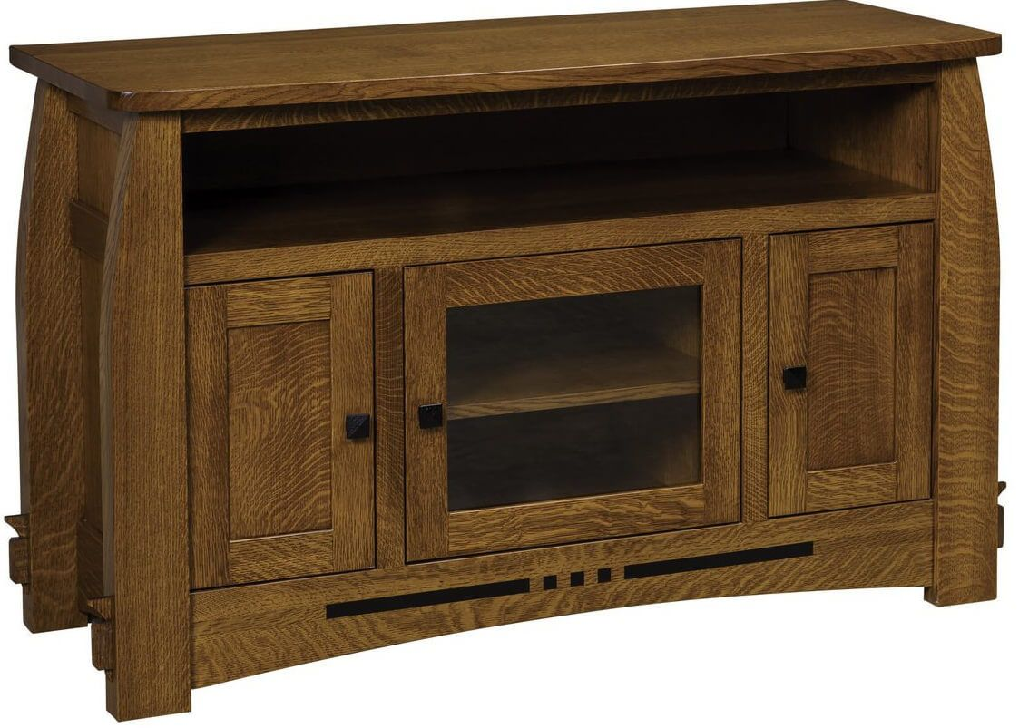 Bowed Top TV Stand