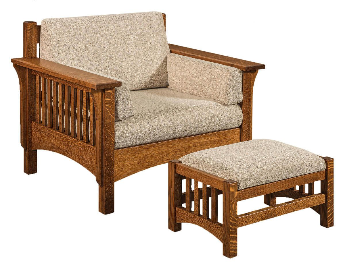 McHenry Footstool and Chair