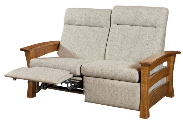 Portmagee Reclining Loveseat Countryside Amish Furniture
