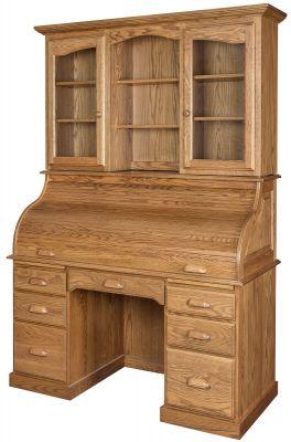 Avon Park Rolltop Desk With Hutch