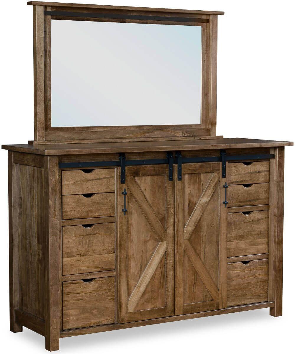 Butler Large Barn Door Dresser Countryside Amish Furniture