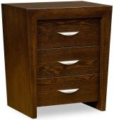 Clarinda 3-Drawer Bedside Table