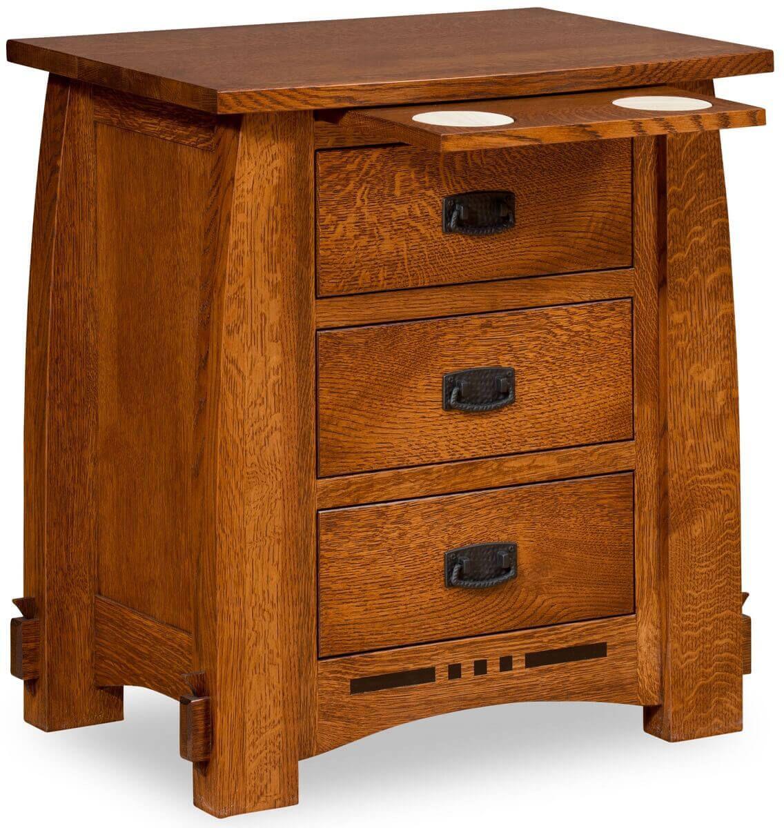 Kossuth 3-Drawer Nightstand