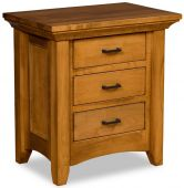 Wapello 3-Drawer Bedside Table
