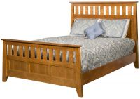 Barbeau Slatted Panel Bed