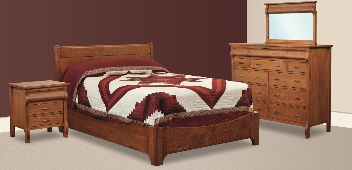 Kaleva French Country Bed