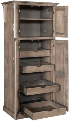 Hardwood Pantry with Pull-out Drawers