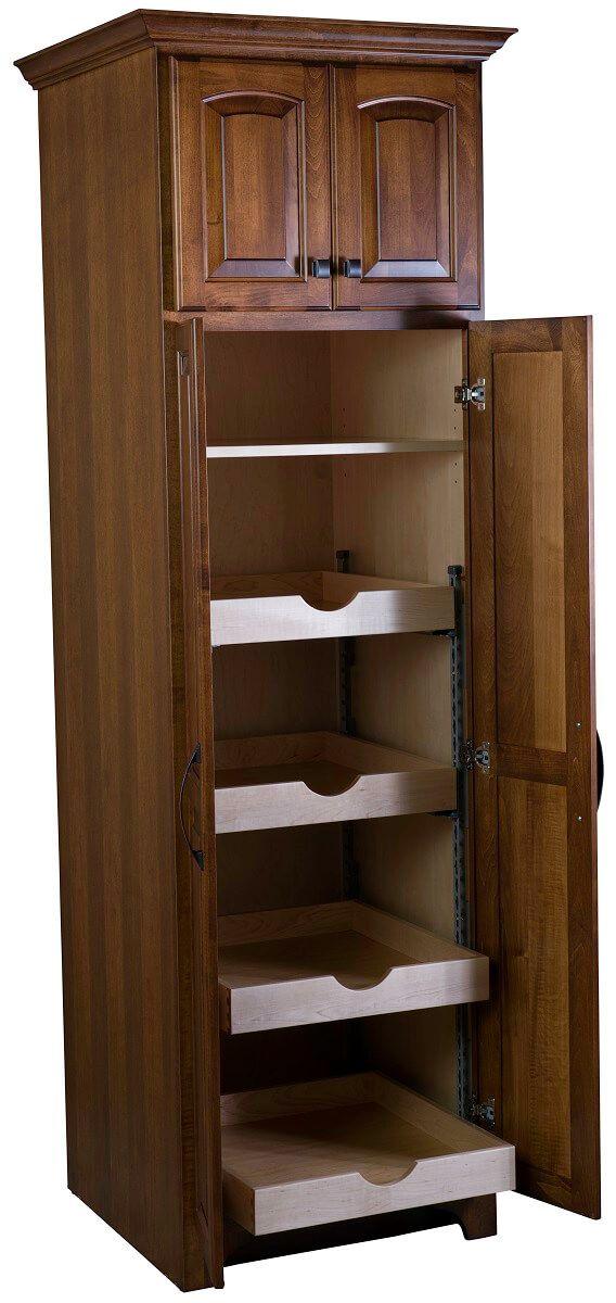 Narrow Hardwood Pantry Cabinet