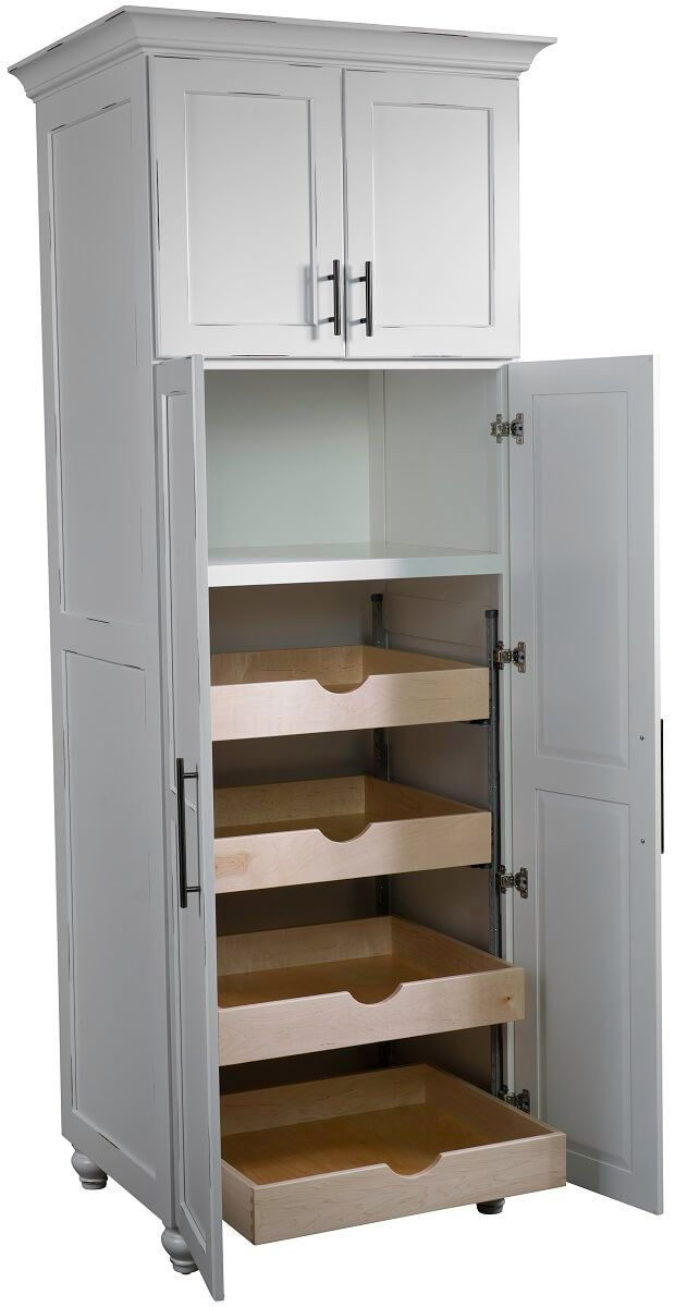 Pantry with Microwave Shelf