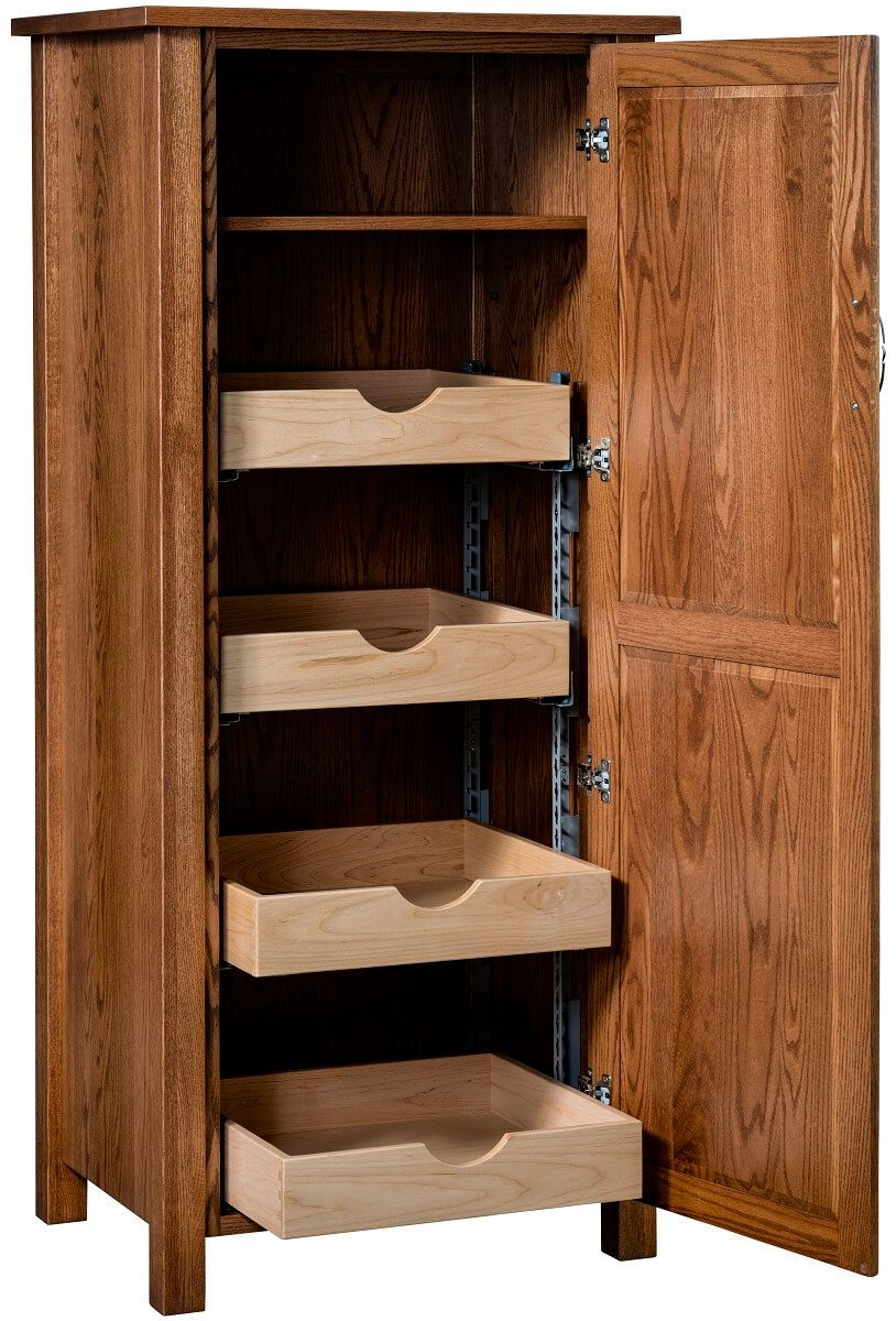Small Mission Pantry Cabinet