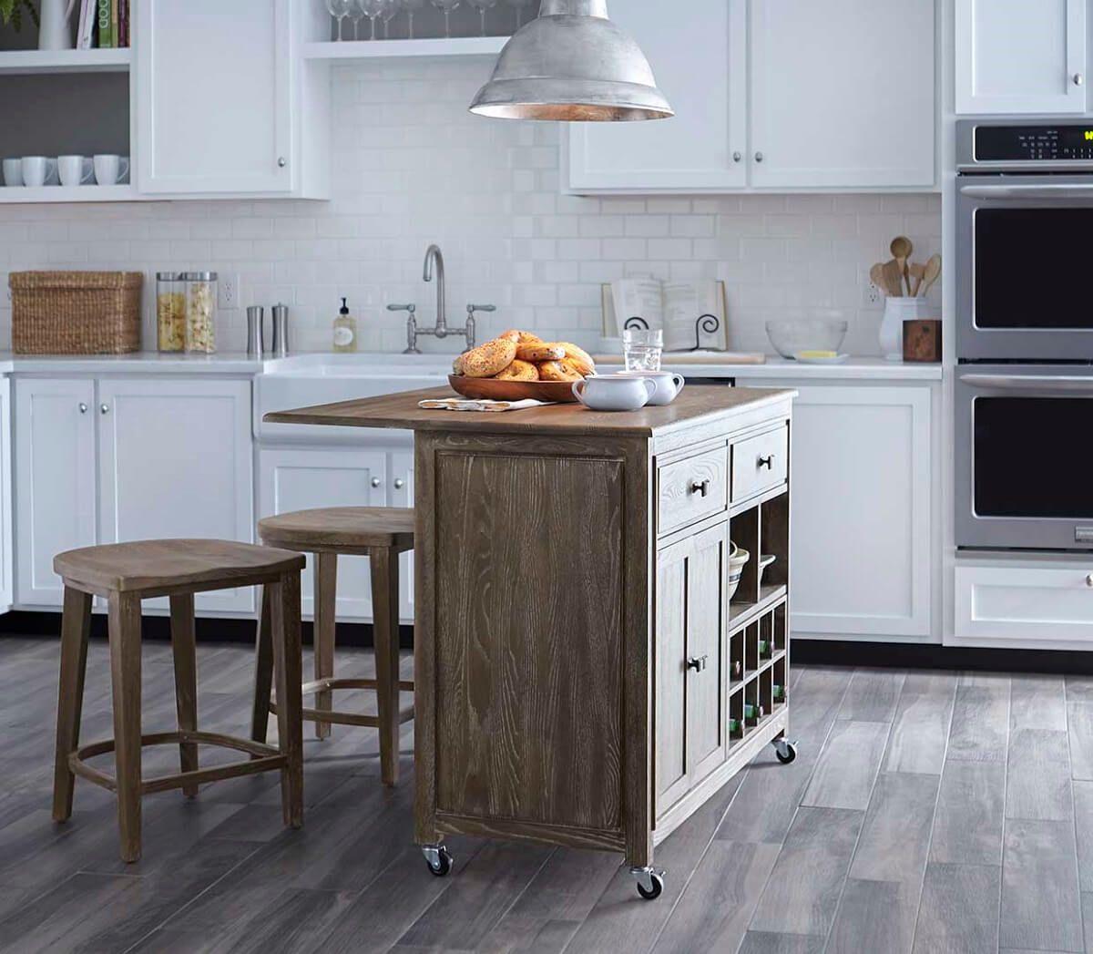 Rustic Kitchen Island Set