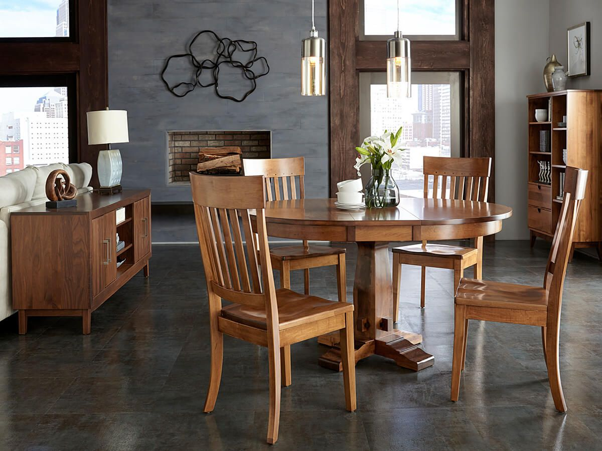 Modern Amish Dining Set
