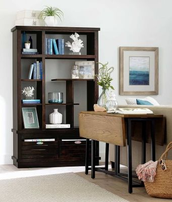 Modern Bookcase and Drop Leaf Table