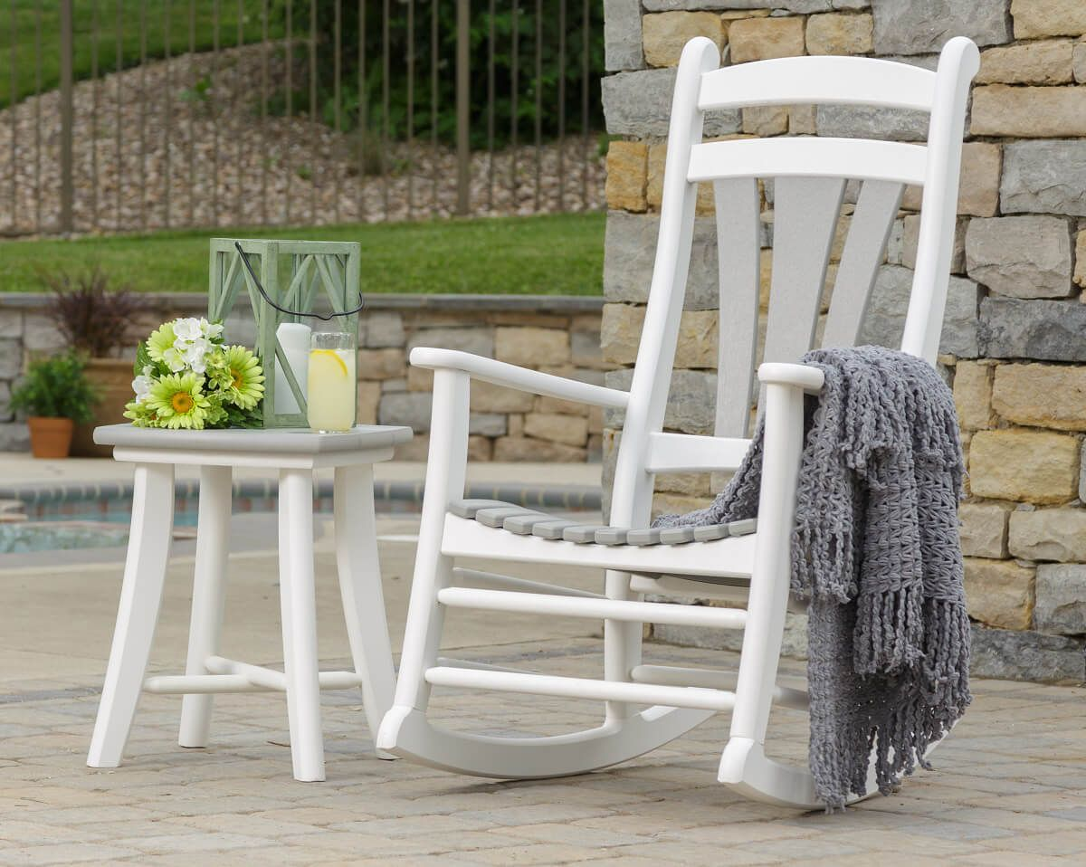 Two-toned Jasper Patio Rocking Chair