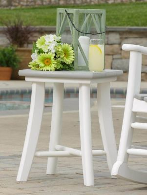 Jasper Patio Side Table in Gray on White