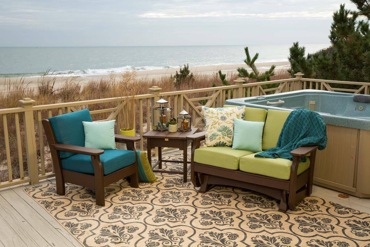 Arena Cove Outdoor Glider with matching patio chair