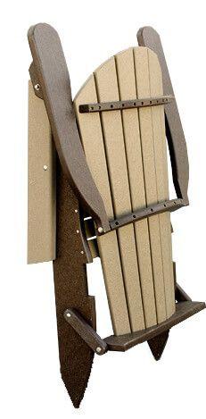 Avalon Folding Plastic Adirondack Chair