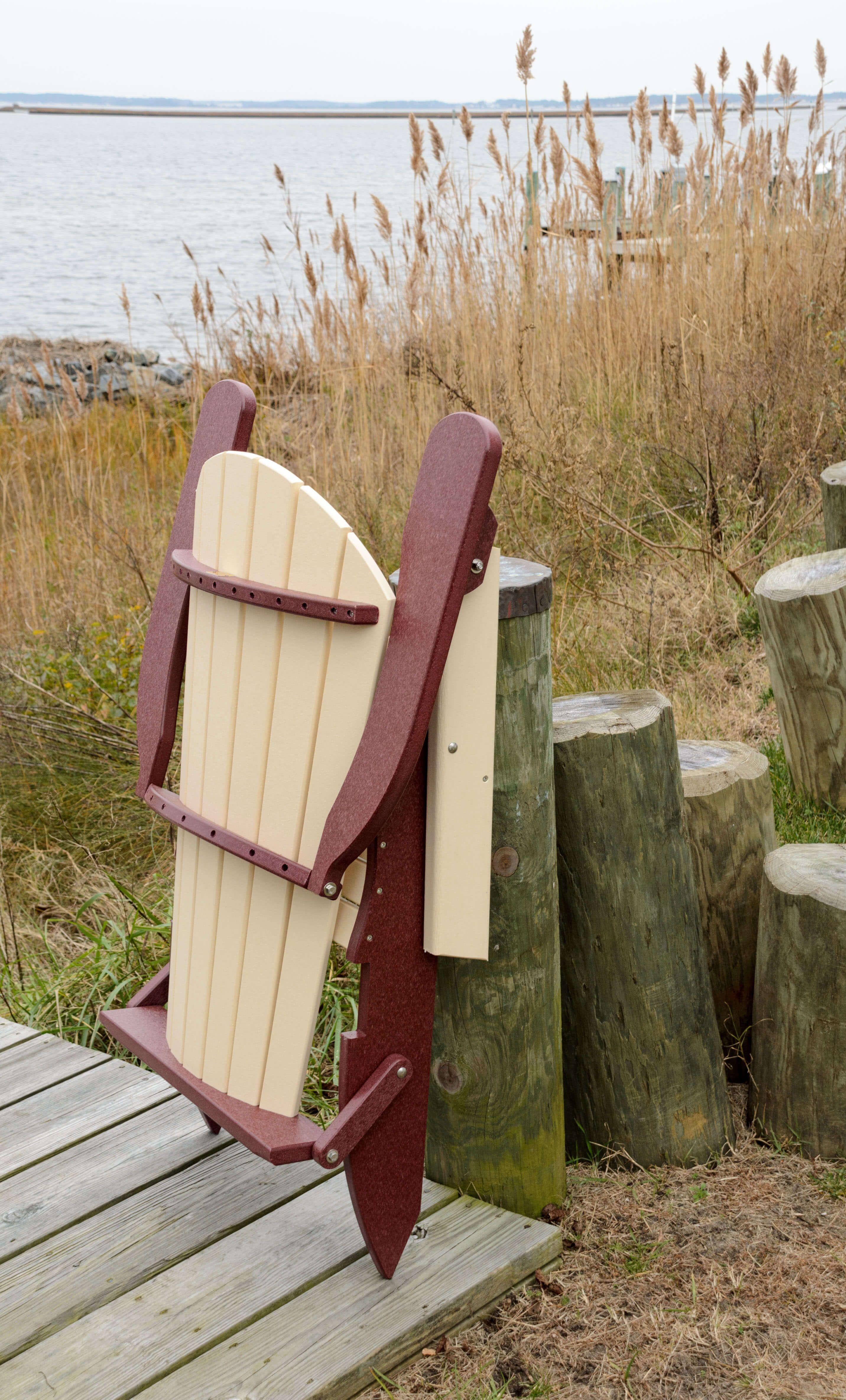 Avalon Folding Adirondack Chair Folded