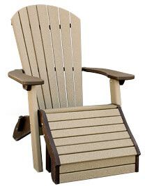 Avalon Outdoor Ottoman shown with Adirondack Chair